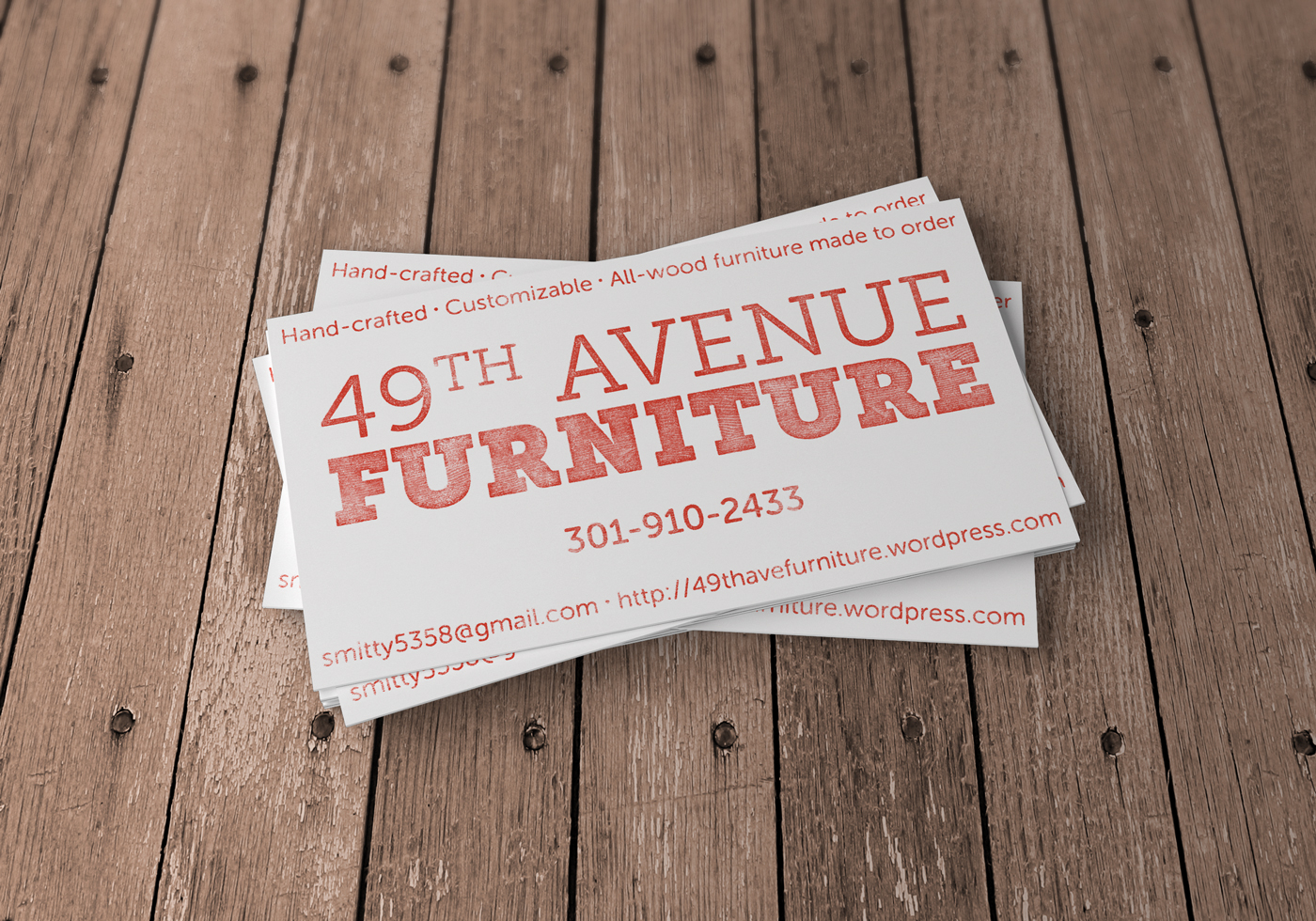 49th Avenue Furniture Business Card